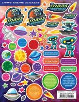 Vacation Bible School (Vbs) 2019 to Mars and Beyond Craft Theme Stickers (Pkg of 12)