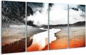 Glasschilderij Modern | Rood, Grijs, Zwart | 160x80cm 4Luik | Foto print op Glas |  F004421