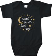 Baby rompertje Little Star   Korte mouw 50/56 zwart