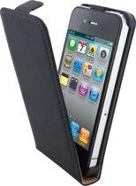 Mobiparts - zwarte premium flipcase voor de iPhone 4 / 4s