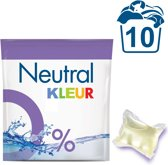 Neutral 0% Parfumvrij Kleur Capsules - 10 wasbeurten - 10 stuks - Wasmiddel