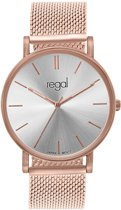 Regal - Regal mesh horloge limited edition rozekleurig