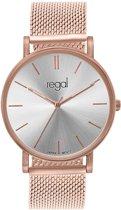 Regal - Regal mesh horloge limited edition rozekleurig