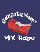 Gangsta Wrapper Mix Tape: Holiday Card Design: Notebook/Journal, 8.5'' x 11'', 200 Pages, College Rule - 7