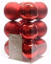 Kerst kerstballen rood 6 cm Ambiance Christmas 12 stuks