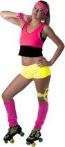 Fluo gele mini short voor vrouwen - Volwassenen kostuums
