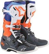 Alpinestars Crosslaarzen Tech 10 Cool Gray/Fluor Orange/Blue/White-44.5 (EU)