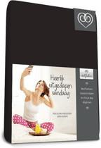 Bed-Fashion katoenen hoeslaken Zwart - 180 x 210 cm - Zwart
