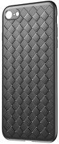 Baseus Weaving Case geweven iPhone 7 8 TPU hoesje - Zwart