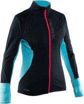 Salming Thermo Wind Jacket - Hardloopjas - Vrouwen - Zwart/Turquiose - XL