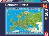 Ontdek Europa! 500 stukjes Puzzel