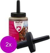 Excellent Hoof Oil Natural Met Borstel - Paardenverzorging - 2 x 500 ml