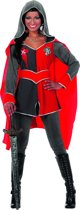 Ridderdame Gwen grijs/rood Maat 40