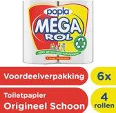 Popla Megarol 2-laags Wc papier - 6x 4 rollen