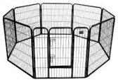 Topmast Puppyren Premium Zwart 640cm Lengte - 120cm hoog . Extra zware pinnen