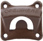 Flesopener Muur – Wand flesopener – Bier Opener - Inclusief Montageset - Brons