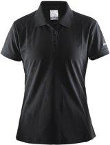 Craft Pique Classic t-shirt Dames Polo zwart Maat M