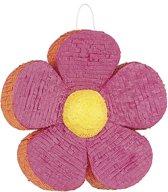 """""""Pinata roze met oranje bloem - Feestdecoratievoorwerp - One size"""""""