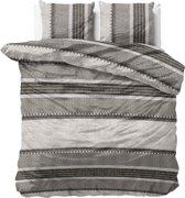 Dreamhouse Bedding River Stripe - Dekbedovertrekset - Lits-Jumeaux - 240x200/220 + 2 kussenslopen 60x70 - Taupe