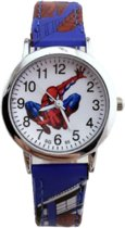 Hidzo Kinderhorloge Spiderman ø 30 mm - Blauw - Kunstleer