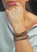 Wrap armband Tigereye
