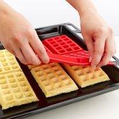 Brick Hunters siliconen Wafel Mal - voor 4 wafels