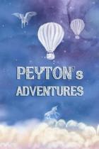 Peyton's Adventures: Softcover Personalized Keepsake Journal, Custom Diary, Writing Notebook with Lined Pages