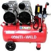 Conti-Weld LBWF geluidsarme compressor 25 liter 4 cilinder olievrij