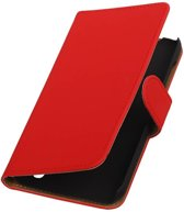 Bookstyle Hoes voor Huawei Ascend Y625 Rood