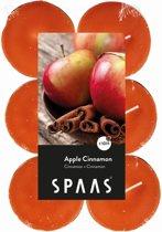 Theelicht maxi appel kaneel - 10 uren - set van 36 stuks