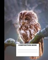 Owl Composition Book