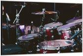 Dibond –Drumstel– 120x80 Foto op Aluminium (Wanddecoratie van metaal)