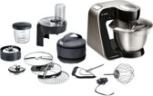 Bosch MUM57B22 Keukenmachine - Piano zwart (geborsteld RVS)