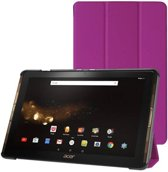 Acer Iconia Tab 10 A3-A40 Tri-Fold Book Case Paars