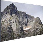 Bergtop Aluminium 90x60 cm - Foto print op Aluminium (metaal wanddecoratie)