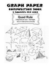 Graph Paper Composition Book - 5 Squares Per Inch