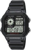Casio AE-1200WH-1AVEF - Horloge - 42 mm - Kunststof - Zwart