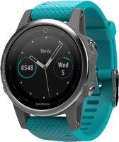 Garmin fenix 5S - GPS sporthorloge smartwatch met hartslagmeting - Ø 42 mm - turquoise