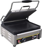 Buffalo grote contact grill enkel gegroefd/glad