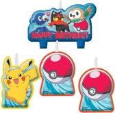 Pokémon verjaardag taart kaarsjes set 4-delig