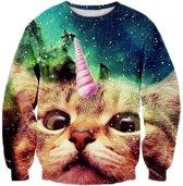 Unicorn cat katten trui Maat M