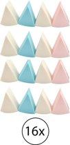 Make up spons - foundation spons - make-up aanbrengen - verschillende kleuren - 16 stuks