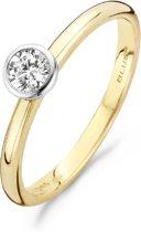 Blush ring 1124BZI  - maat 60 - 14 krt geelgoud met zirkonia