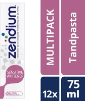 Zendium Sensitive Whitener Tandpasta - 12 x 75 ml - Voordeelverpakking