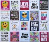 Verjaardagskaarten en Assortie Wenskaarten – Set van 20 --L-011