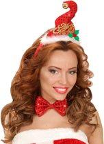 Kerst haarband en strikje - Verkleedattribuut