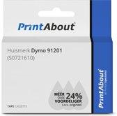 Huismerk Dymo 91201 (S0721610) Tape Zwart op wit (12 mm)