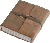 One World Interiors Vora Notitieboekje - 12x15cm - Groen - Leer
