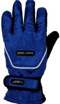 Ski handschoenen kobalt blauw voor volwassenen