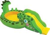 Intex Kinderzwembad Krokodil met Glijbaan